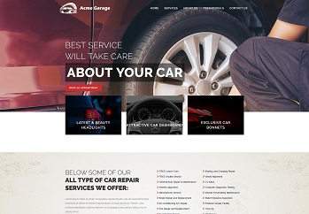 Website design for  automobile industry
