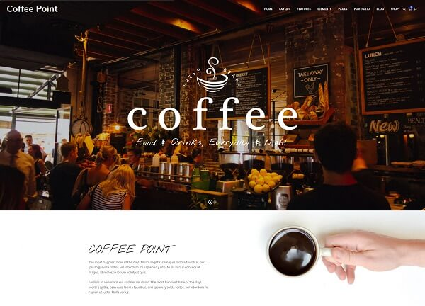 coffee website design